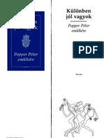Kulonben Jol Vagyok -Popper Peter Emlekere