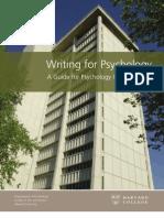Writing for Psychology Web