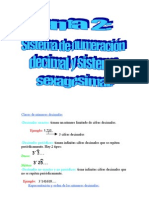 resumen sistema decimal y sexagesimal