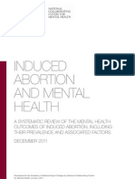 Induced Abortion and Mental Health (Dec 2011)