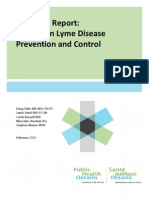 PHO Technical Report - Update on Lyme Disease Prevention and Control Final 030212