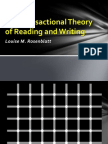 The Transactional Theory of Reading and Writing