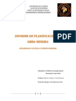 informe planificacion