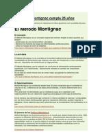 El metodo Montignac cumple 25 años
