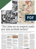 En Lima no se respetó nada por una actitud racista -  El Comercio - País Lima - pag 17