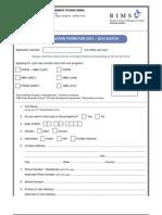 2012 2014 Application Form