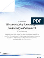 Web Monitoring for Employee Productivity Enhancement