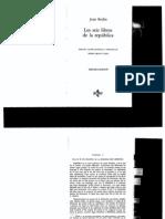 Jean Bodin Los Seis Libros de La Republica