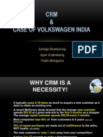 Customer Relationship Management in India- Case of Volkswagen India