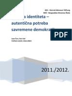 Lazar Čovs - Politika identiteta - autentična potreba savremene demokratije