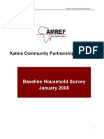 Amref,Baseline Household Survey 2008-01