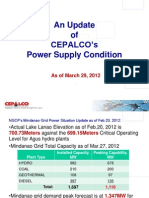 Power Updates from CEPALCO March 30 2012