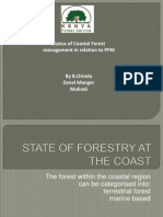 Status of Coastal Forest Management in Relation to PFM