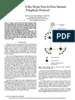 An Analysis of the Skype Peer-To-Peer Internet Telephony Protocole