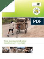 Memoria Foro Internacional Sobre Reciclaje