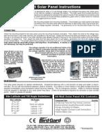 Solar Panel 40w Instructions