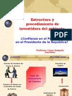 CDG - Estructura y procedimiento de investidura del gabinete
