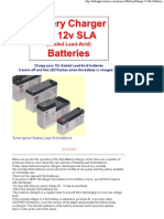 Battery Charger 12v SLA