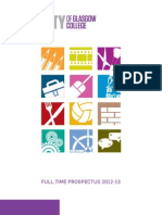 City of Glasgow College - Full Time Prospectus 2012-2013