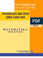 Panduan Soal Sma Matematika Ips 2008