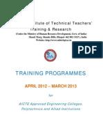 Calendar of Programmes