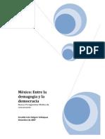 Mexico Entre La Demagogia y La Democracia