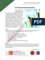 Heat Transfer Fluid for Food & Beverage Industries