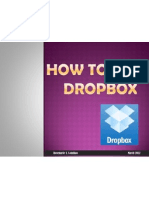 Upload, edit, share large files of photos, videos and documents through Dropbox