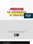 Freedom of Expression in Uganda
