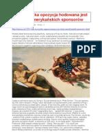 Jak rosyjska opozycja hodowala amerykańskich sponsorów