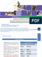Strategic Directions for Gender-Inclusive Urban Sector Development in South Asia