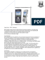 Case Study - Blackberry CRM