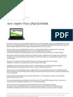 Acer Aspire 7739 384G50Mnkk
