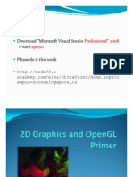 L02 - 2D Graphics and OpenGL Primer