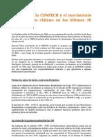 Historia de la CONFECH y el movimiento universitario chileno en los últimos 30 años