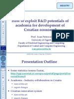 4 - Ivan Petrović - How to exploit R&D potentials of academia for development of Croatian economy