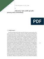 """""""Dziedzictwo Schramma"""" jako źródło specyfiki polskiej nauki o komunikacji"""