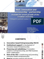 3 - Zoran Barišić - R&D, innovation and Enterpreneurship partnership - a model for smart growth of the Croatian economy