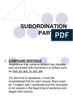 Subordination Part One Week 3