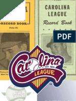 2012 Carolina League Media Guide & Record Book