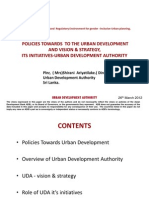 Sri Lanka Policies Towards Urban Development Vision Strategy and Initiatives UDA