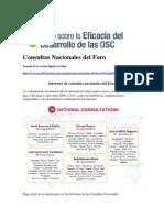 Consultas Nacionales Del Foro