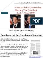 PC I Electing the President-Bush v Gore 2000-Student Program
