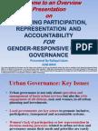 Bangladesh Improving Participation, Representation and Accountability for Gender-Responsive Urban Governance