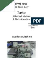 overlock , flatlock machine. spme