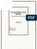 FINAL ACHIEVEMENT TEST REPORT