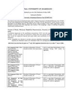CUJET 2012 Information Bulletin