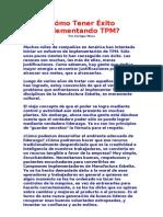 Cómo Tener Éxito implementando TPM
