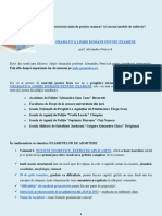 Gramatica Limbii Romane Pentru Examene - Admitere Facultate 2012