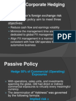 Review of Corporate Hedging Policy